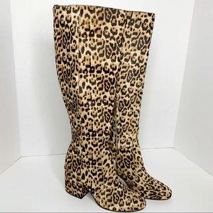 Sam Edelman Thora Sand Leopard Knee High Boots 7.5